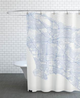 Traffic Los Angeles Blue Shower Curtain