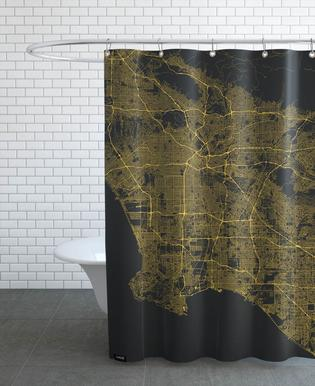 Traffic Los Angeles Yellow Shower Curtain
