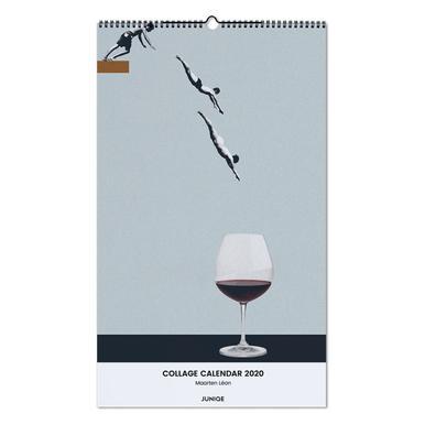Collage Calendar 2020 - Maarten Léon calendrier mural