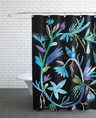 Botanica Clematis Black rideau de douche