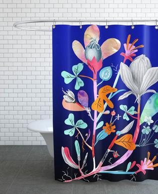 Botanica Blue rideau de douche