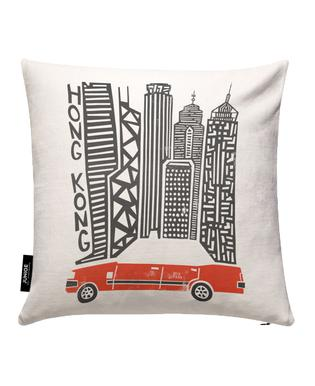 Hong Kong Cityscape Cushion Cover