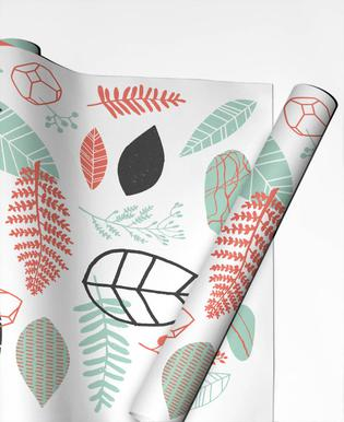 Nature is Taking Over Mint Gift Wrap