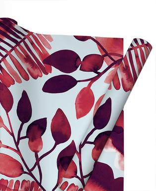 Leaves - Red Gift Wrap