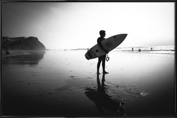 Off for a Surf I - Poster in kunststof lijst