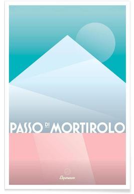 Passo di Mortirolo II - Premium Poster