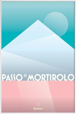 Passo di Mortirolo II - Poster im Kunststoffrahmen