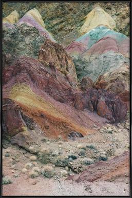 Calico Mountains -Bild mit Kunststoffrahmen