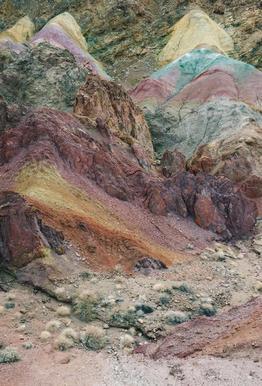 Calico Mountains Acrylic Print