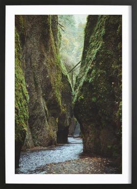 Oneonta Gorge -Bild mit Holzrahmen