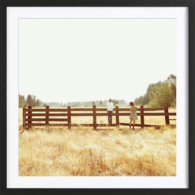 Fence Standing Framed Print