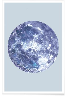 Earth blue Poster
