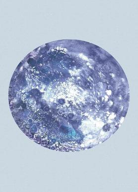 Earth blue canvas doek
