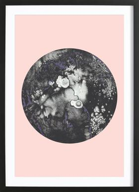 Mercury Pink - Poster in Wooden Frame