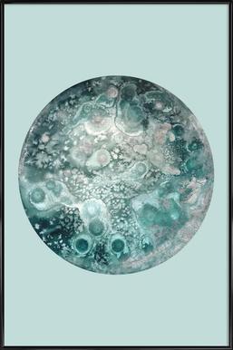 Neptune turquoise affiche encadrée
