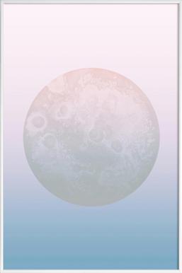 Light Moon - Poster im Kunststoffrahmen