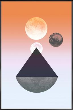 Moon Triangle -Bild mit Kunststoffrahmen
