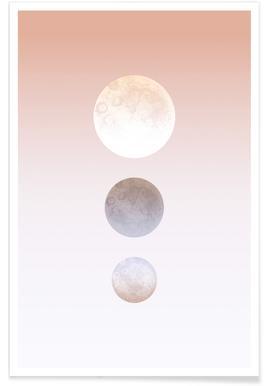 Moon Triplet - Premium poster