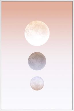 Moon Triplet - Poster im Kunststoffrahmen