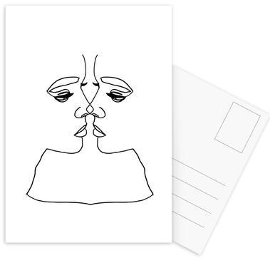 Girl Love Postcard Set