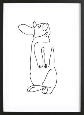 Rabbit 2 ingelijste print