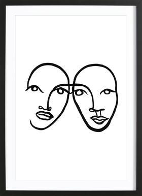 Faces 5 Framed Print