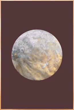 Gold Moon poster in aluminium lijst