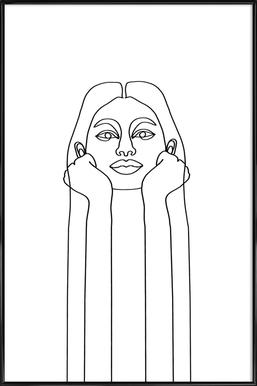 Curious Girl ingelijste poster
