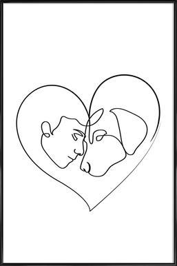 Dog Love Framed Poster