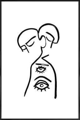 Eye Want You -Bild mit Kunststoffrahmen