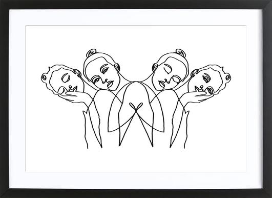 Girls ingelijste print
