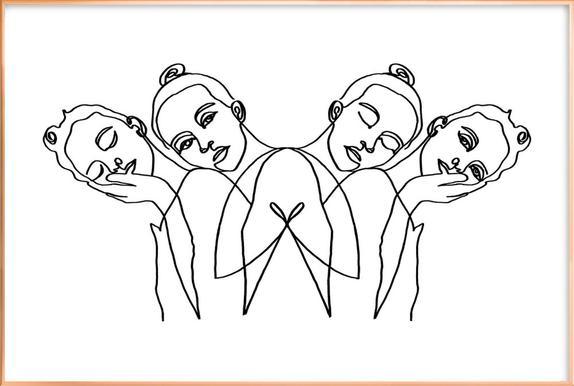 Girls -Poster im Alurahmen