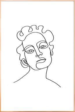 Maude Poster in Aluminium Frame