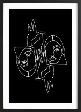 Mila BW Framed Print
