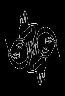 Mila BW Acrylic Print