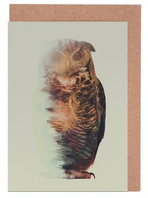 Norwegian Woods: The Owl -Grußkarten-Set
