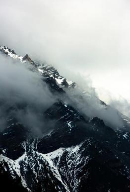 Misty Mountains Impression sur alu-Dibond
