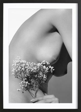 Nude 01 -Bild mit Holzrahmen