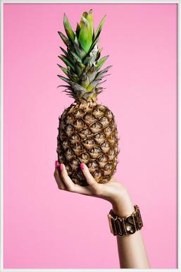 Pineapple - Poster im Kunststoffrahmen