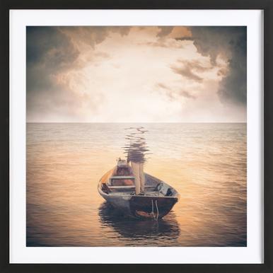 Glas Sea Framed Print