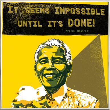 Nelson Mandela poster in aluminium lijst