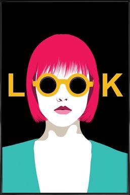 Look - Poster im Kunststoffrahmen