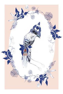 Magpie Bird Pink
