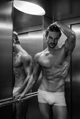 Always Take The Elevator II Aluminium Print