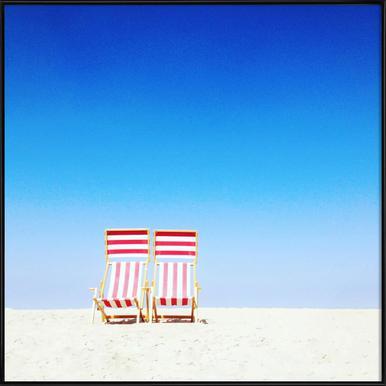 Beach Chairs ingelijste poster