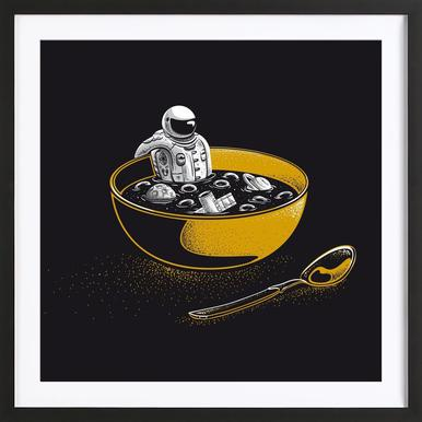 Space Flakes Framed Print