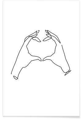 Oneline Heart -Poster