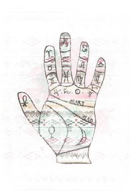 Hand Impression sur alu-Dibond