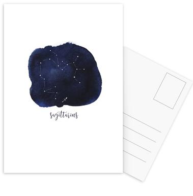 Saggitarius -Postkartenset