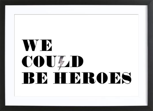 Heroes ingelijste print